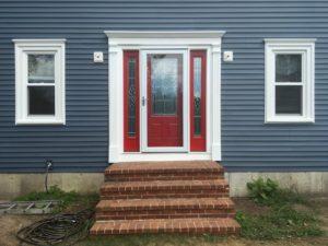 Red door w/storm door